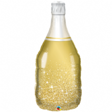 Golden Wine Bottle Large Foil Balloon 1pc